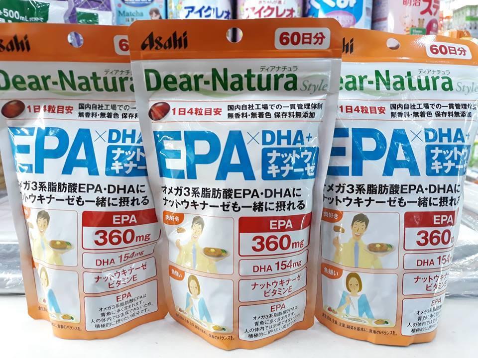 Thuốc uống bổ não và thần kinh Dear Natura EPA & DHA Nhật Bản