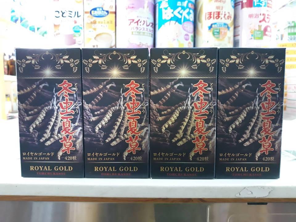 ĐÔNG TRÙNG HẠ THẢO ROYAL GOLD 420 VIÊN