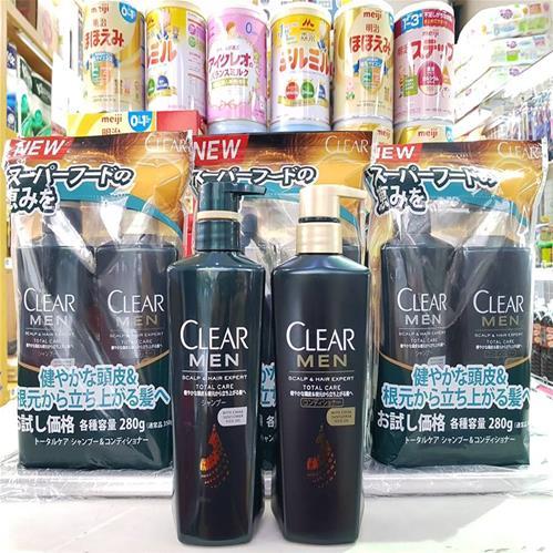 DẦU GỘI XẢ CLEAR MEN Nhật